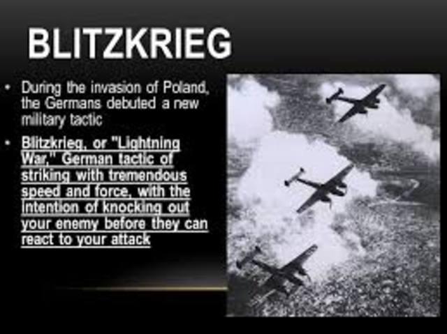 Germany invades Poland with 2nd Blitzkrieg warfare