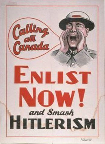 Canada declares war on Germany