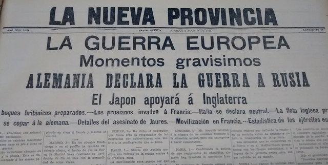 Alemania declara la guerra a Rusia. Francia y Alemania decretan la movilización general.
