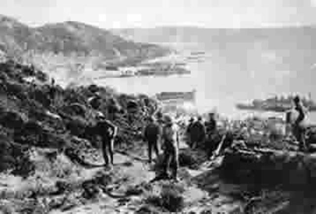 Derrota aliada en la batalla de los Dardanelos