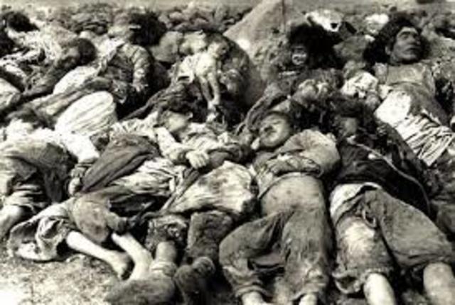 Empiezan las masacres de armenios en Turquía.