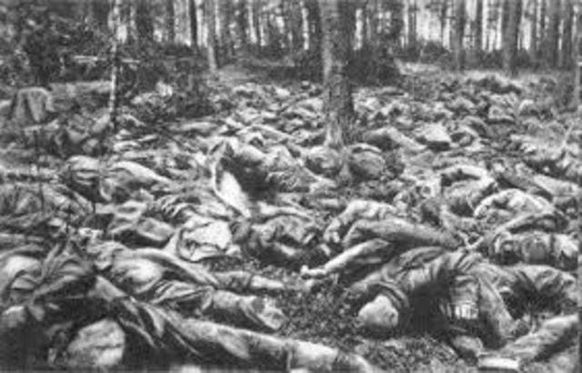 Derrotas rusas frente a Alemania (batallas de Tarnov, Gorizia).