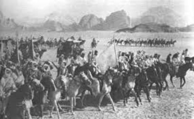 Inicio de la revuelta árabe contra el Imperio Otomano