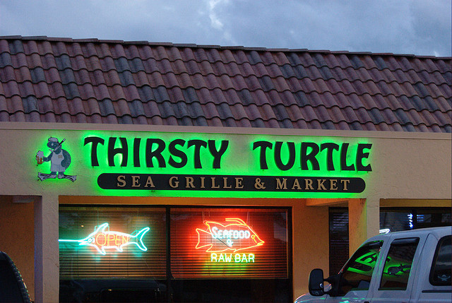 Exxon gas station to Thirsty Turtle Tavern & Grill