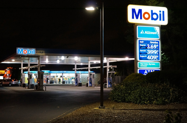 Phillips to Mobil gas station
