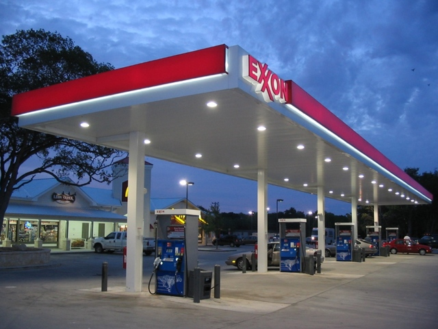 Mobil gas station to Exxon gas station