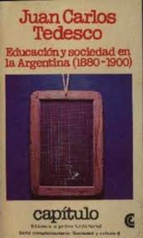 """Juan Carlos Tedesco publica su primera obra: """"Educación y Sociedad en Argentina"""""""