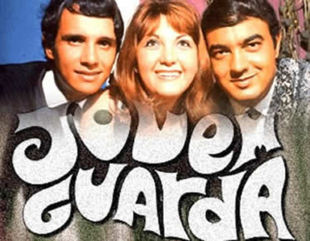 """The First """"Jovem Guarda"""" tv show."""