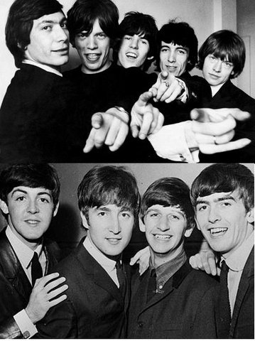 Anys 60's - Grups anglesos ( The Beatles - Rolling Stones))
