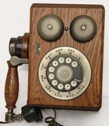 Telefono español de pared