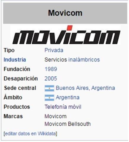 Primera licencia de Movicom - Bellsouth