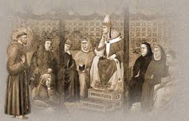 Aprobación papal de la orden de los Franciscanos