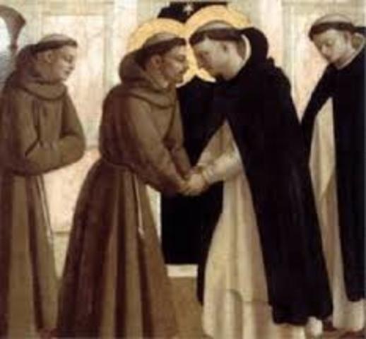 Aprobación papal de la orden  de los Dominicos