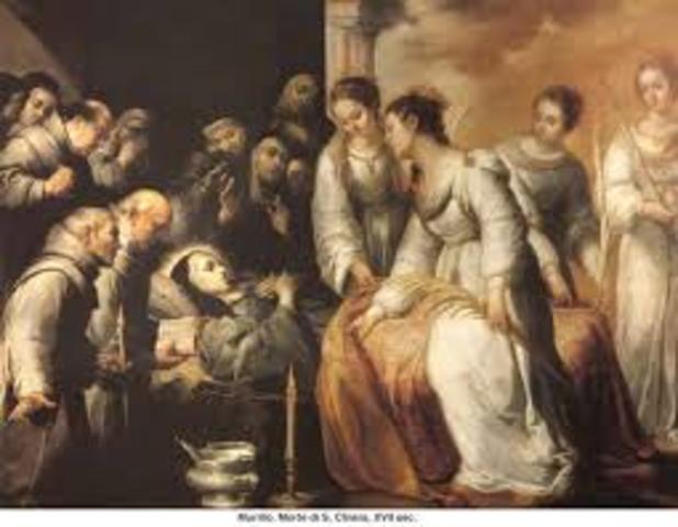 Muerte de Santa clara