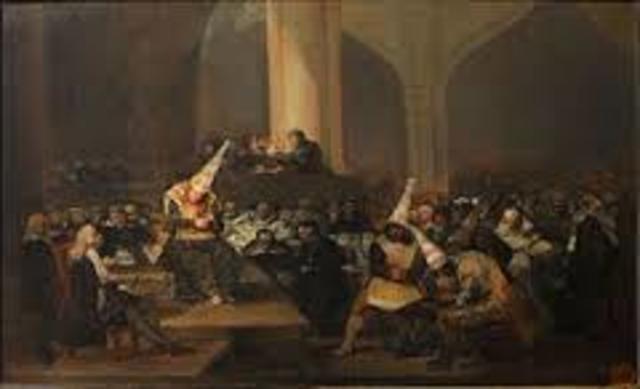 inquisicion pontifica bajo la monarquia en españa
