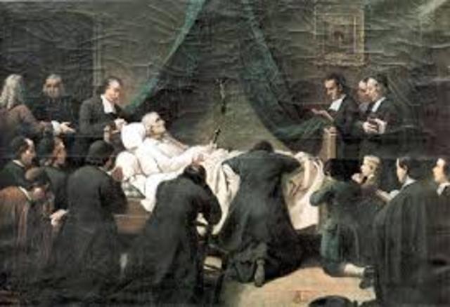 Muerte de San Juan Bautista de la Salle
