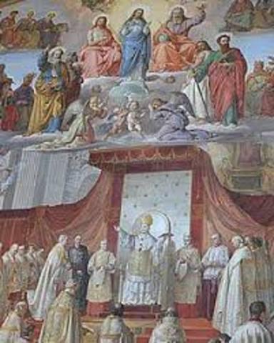 Proclamacion de Dogma de la inmaculada concepcion