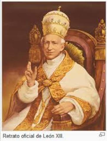 Leon Xlll publica la enciclica
