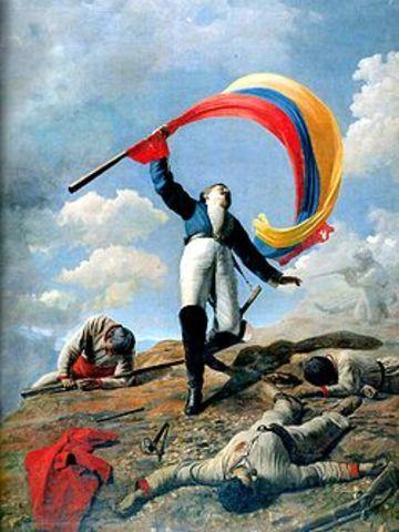Simón Bolívar declara la guerra a muerte contra los Españoles