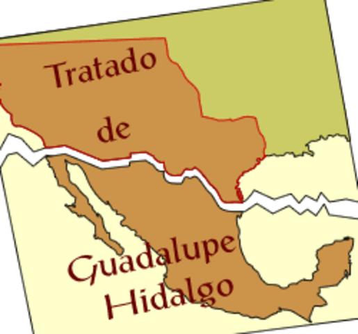 Tratado de Guadalupe Hidalgo.