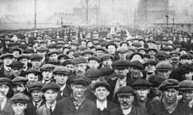 Primeras protestas obreras en Gran Bretaña