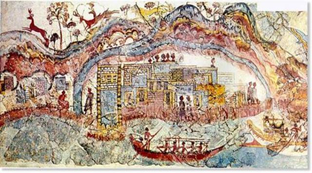 מפה מתקופת התרבות המינואית