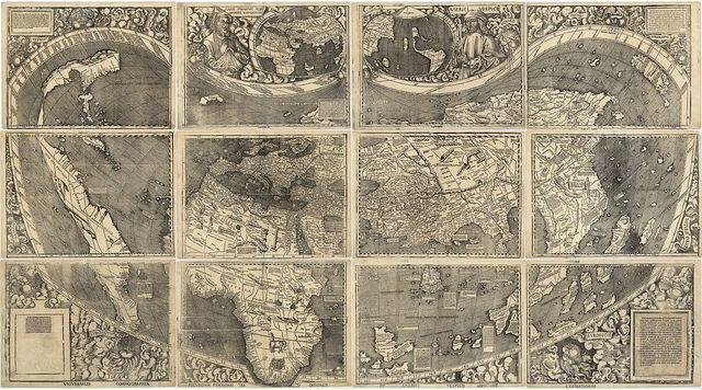 מפת עולם מעוגלת ראשונה