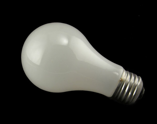 Frosted etched incandescent bulbs