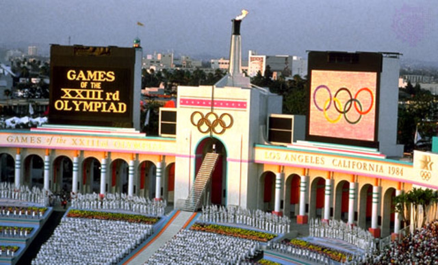 1984 Olympics hosted by Los Angles,Cailfornia,United States of America
