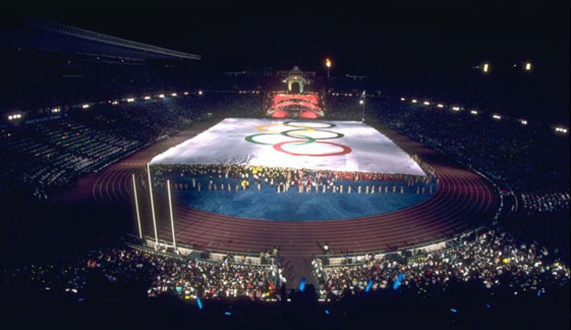 1992 Olympics hosted by Barcelona,Spain.