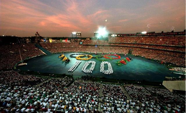 1996 Olympics hosted by Atlanta,Georgia,United States of America