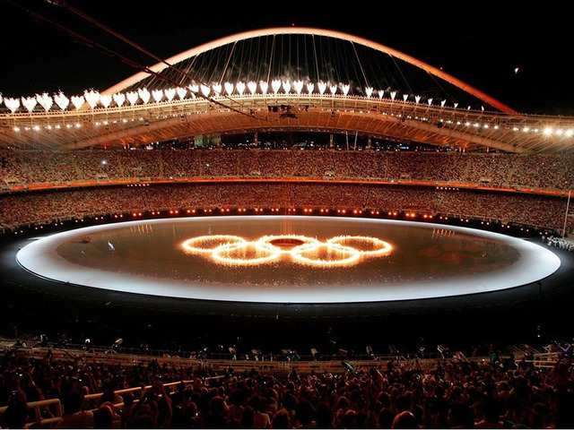2004 Olympics hosted by Athens,Greece.