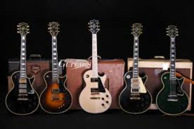 Creación de la guitarra eléctrica modelo Gibson Les Paul