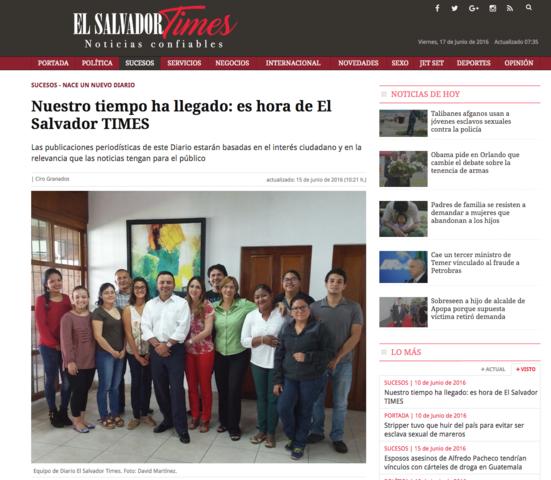 """Nace """"El Salvador Times"""""""