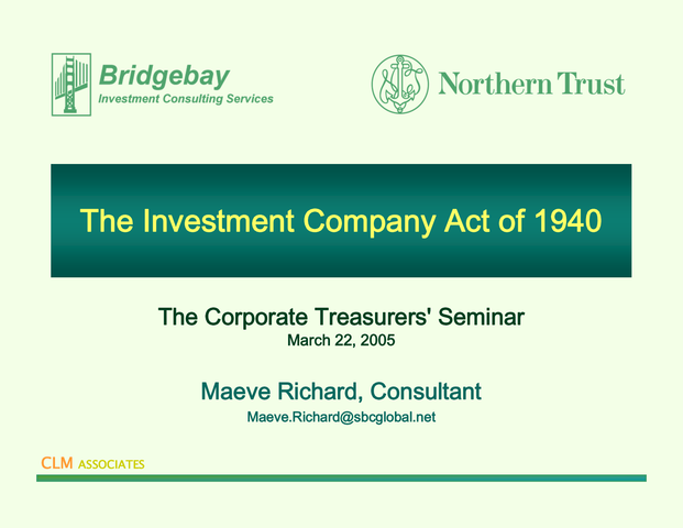 Ley de Sociedades de Inversión de 1940 (EE.UU)