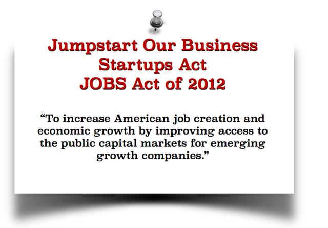 Ley de Negocios Startups de 2012 (Ley del Empleo EE.UU)