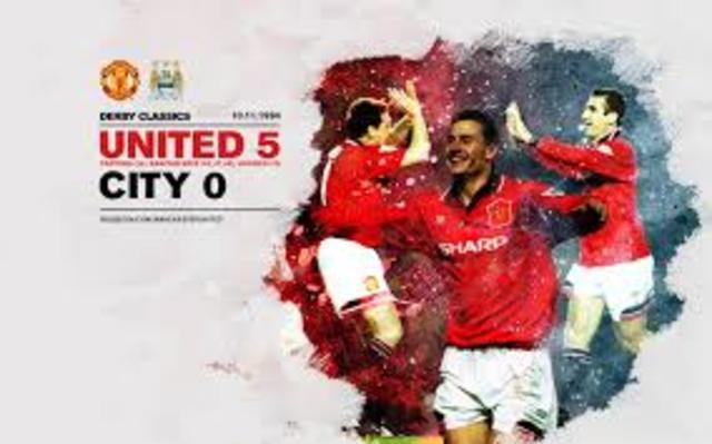 Man United 5-0 Manchester City