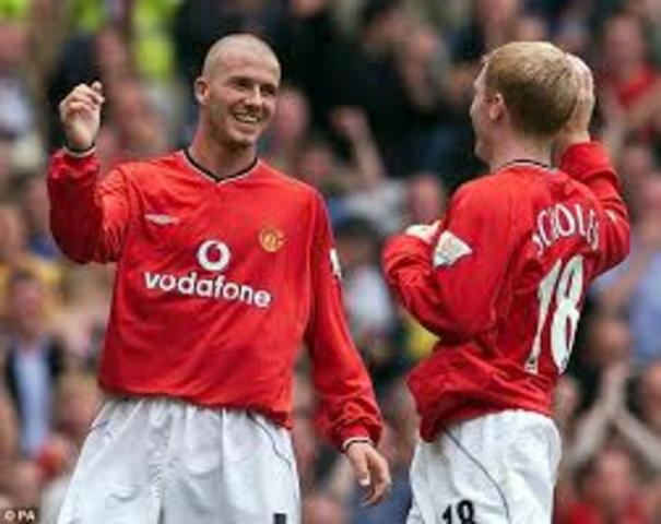 Scholes and Beckham join