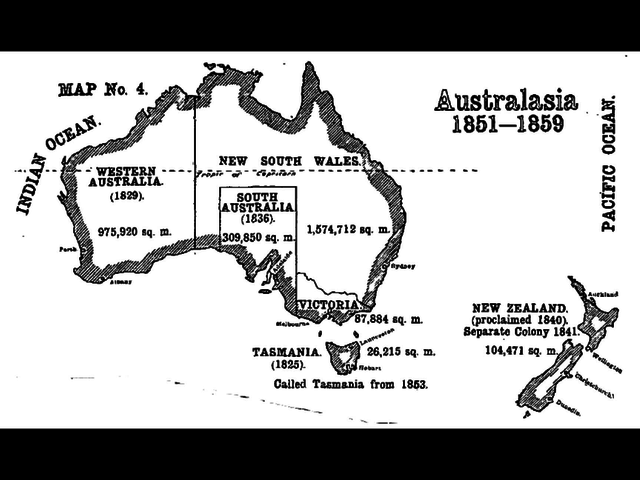 1851-The Southern part of New South Wales separated to become the colony of Victoria