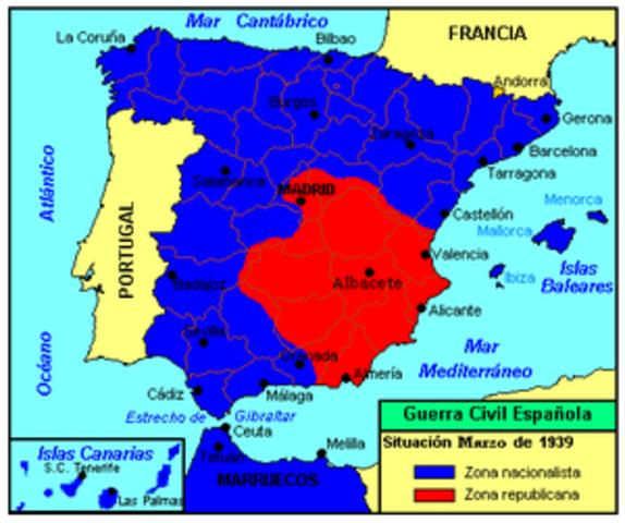 Ofensiva Final (Victoria decisiva franquista, Fin de las hostilidades, Franco se hace con el control de toda España)