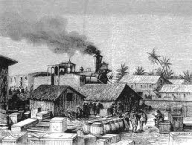 Inauguración del Ferrocarril de Panamá