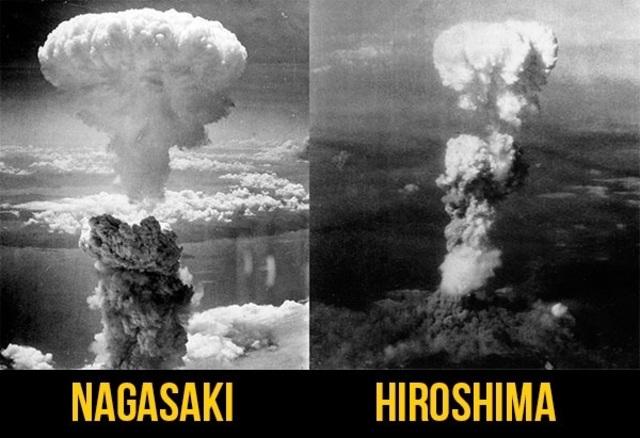 Bombardeo a las ciudades de Hiroshima y Nagasaki.