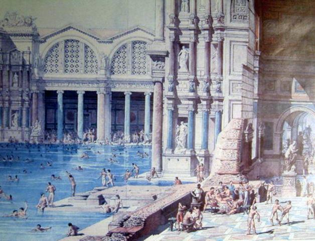 Construção das Termas de Caracalla