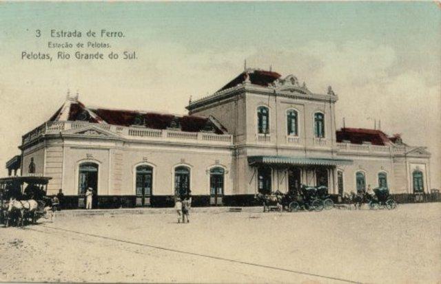 Inauguração da estação Ferroviária de Pelotas