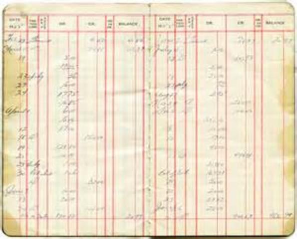 Procedimentos contábeis manuscritos