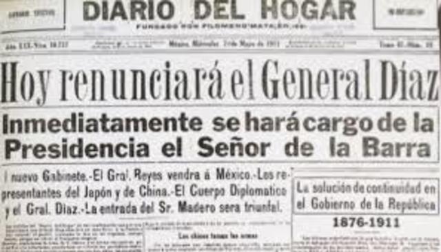 Renuncia de Díaz como condición