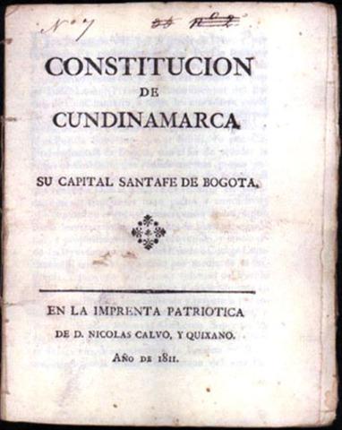 Promulgada Constitución de Cundinamarca