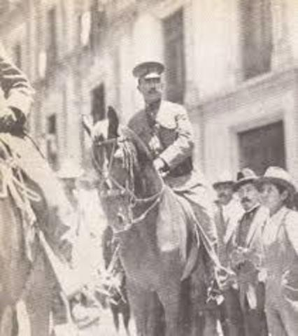 Obregón ocupa la Ciudad de México