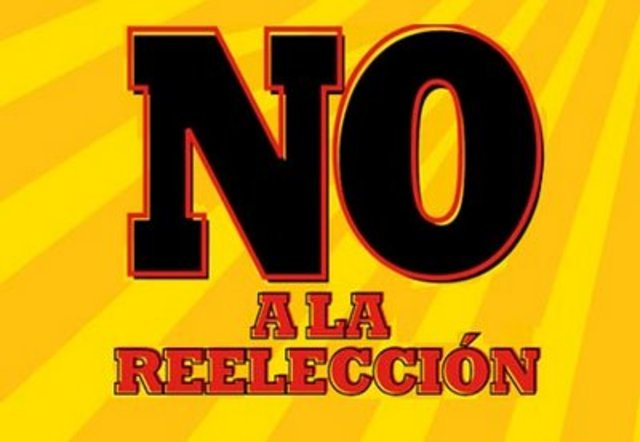 ¡No reelección!