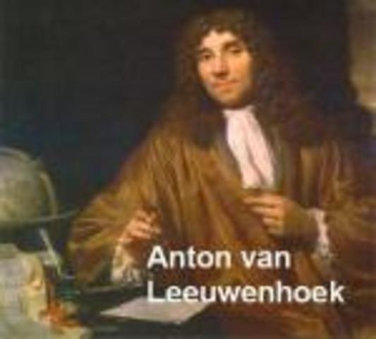 Antonie van Leeuwenhoek. Primer microscopi amb el que va fer observacions de glòbuls de la sang